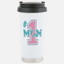 #1 Mom Pink Travel Mug