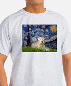 Starry Night & Wheaten Terrier T-Shirt