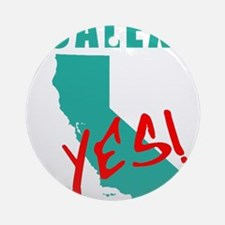 #CALEXIT YES! California Secede Round Ornament