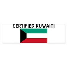 CERTIFIED KUWAITI Bumper Bumper Sticker