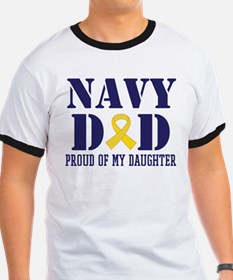 Navy Dad Proud Of Daughter T-Shirt