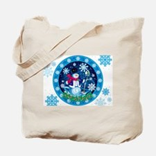 Wonderland Snowman Tote Bag