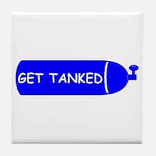 Get Tanked Tile Coaster