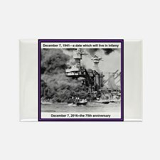 Pearl Harbor 75th Rectangle Magnet