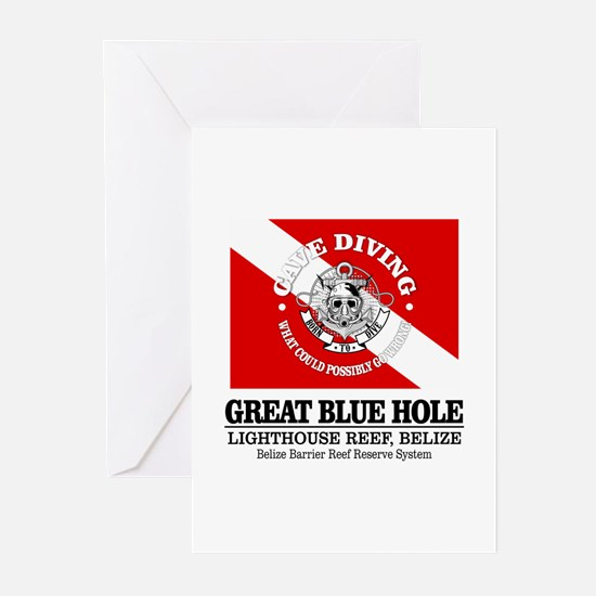 Great Blue Hole Greeting Cards