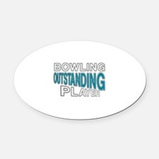 Bowling Outstanding Player Oval Car Magnet