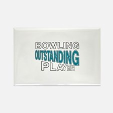 Bowling Outstanding Player Rectangle Magnet