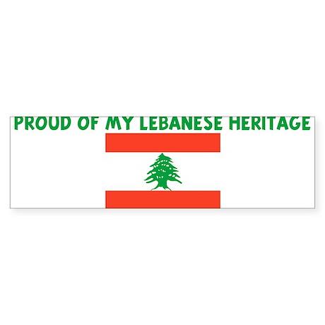 PROUD OF MY LEBANESE HERITAGE Bumper Sticker