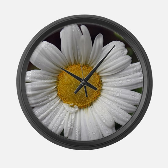 Dewy Daisy Large Wall Clock