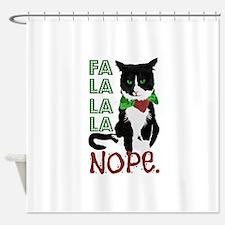 Unique Xmas cat Shower Curtain