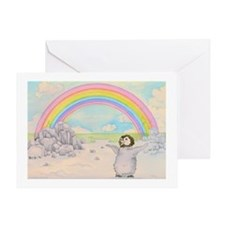The Penguin and the Rainbow Greeting Card