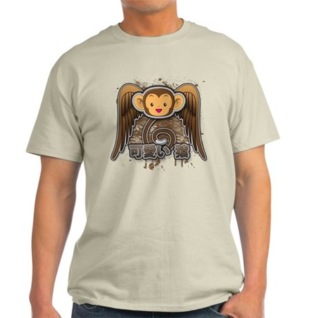 Kawaii Saru's Flying Monkeys Light T-Shirt