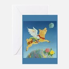 Carousel Flying Pig Greeting Cards (Pk of 10)