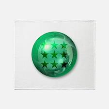 Lucky Nine Stars Ball (Green) Throw Blanket
