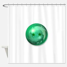 Lucky Two Stars Ball (Green) Shower Curtain