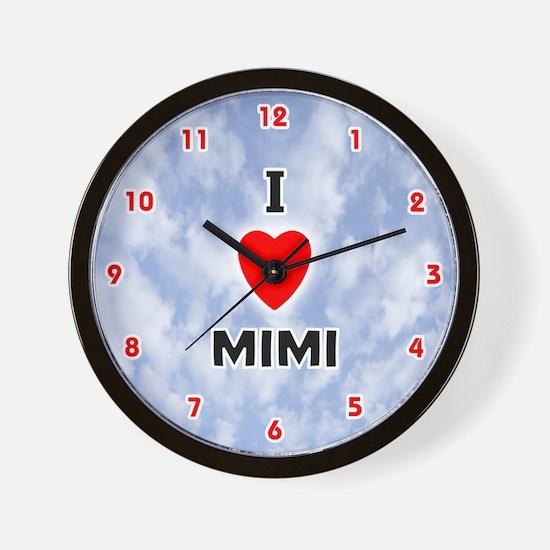 I Love Mimi (Red/Blk) Valentine Wall Clock