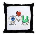 Eye Love U Throw Pillow