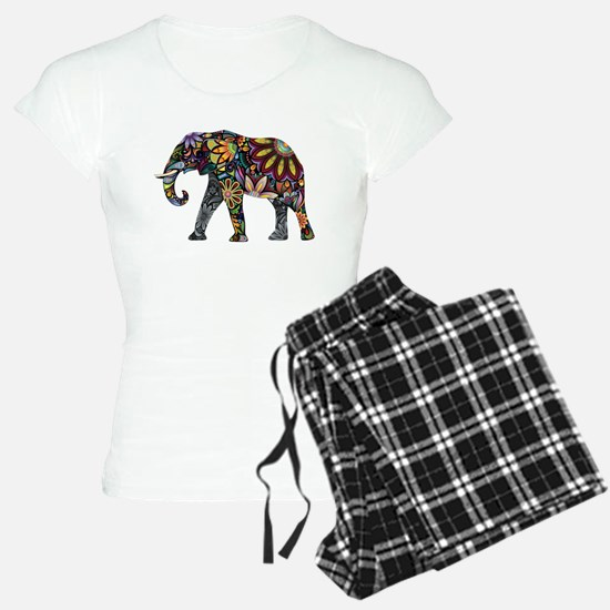 Colorful Elephant Pajamas