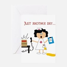 Stressed Out Nurse Greeting Cards