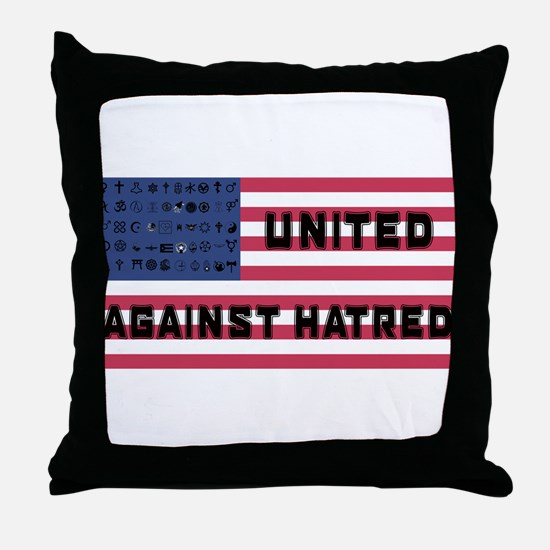 United Against Hatred Throw Pillow