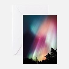 Aurora borealis Greeting Cards