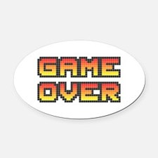 Game Over (Pixel Art) Oval Car Magnet