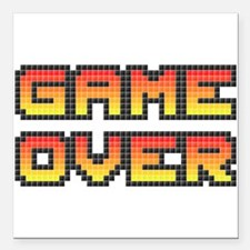 "Game Over (Pixel Art) Square Car Magnet 3"" x 3"""