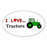 I Love Tractors Sticker (Oval 10 pk)
