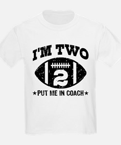 Two Year Old Football T-Shirt