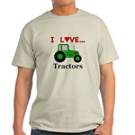 I Love Tractors Light T-Shirt