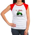 I Love Tractors Junior's Cap Sleeve T-Shirt