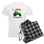 I Love Tractors Men's Light Pajamas