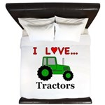 I Love Tractors King Duvet