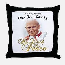 Pope John Paul Throw Pillow