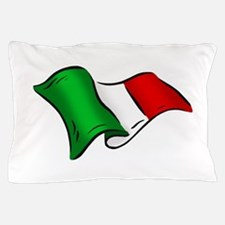 Waving Italian Flag Pillow Case