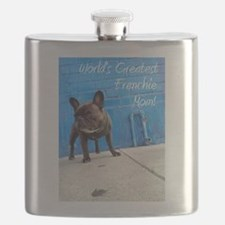 World's Greatest Frenchie Mom! Flask