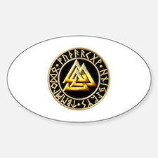 Unique Valknut Sticker (Oval)