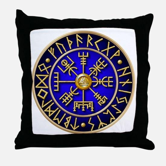 Viking compass Throw Pillow