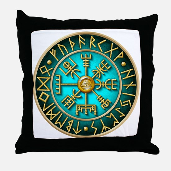 Unique Viking compass Throw Pillow