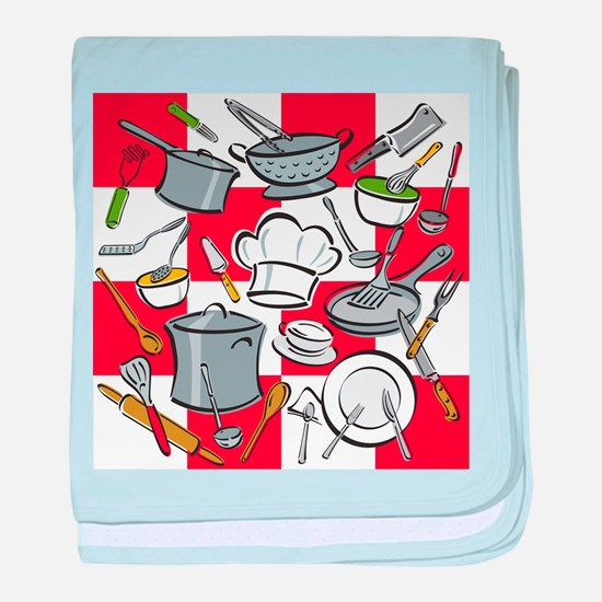 Kitchen Tools Check baby blanket