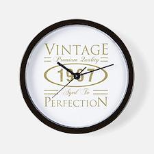 Funny Aged Wall Clock