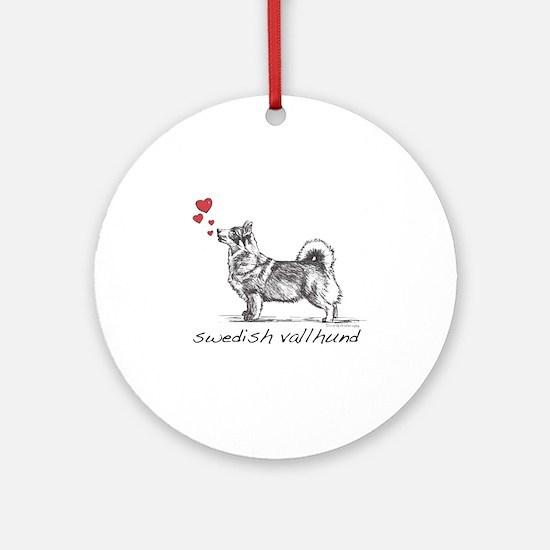 Swedish Vallhund Round Ornament
