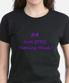 54 Still Turning Heads 1 Purple T-Shirt