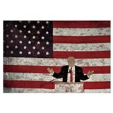 Donald trump inauguration 2017 Wrapped Canvas Art