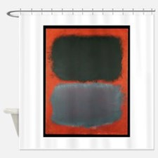 ROTHKO SHADES OF GREY AND ORANGE Shower Curtain