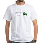 Christmas Tractor White T-Shirt