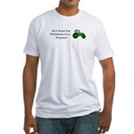 Christmas Tractor Fitted T-Shirt