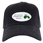 Christmas Tractor Black Cap
