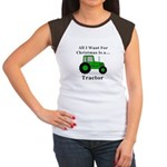 Christmas Tractor Junior's Cap Sleeve T-Shirt