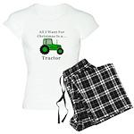 Christmas Tractor Women's Light Pajamas